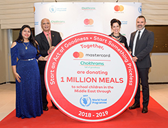 Choithrams and Mastercard World Food Programme (WFP) initiative 2018-19
