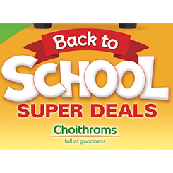 Back 2 School limited offers at Choithrams