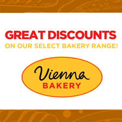 Great discounts on our Bakery Range!
