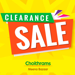 Clearance sale at Meena Bazaar!