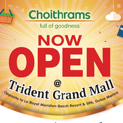 Media Coverage of Choithrams Trident Grand mall in Khaleej Times and Gulf News